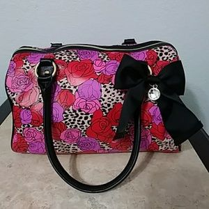 Betsey Johnson NWOT Floral Duffel Tote with Bow